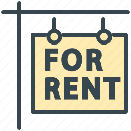 estate, for, house, property, real, rent, sign icon