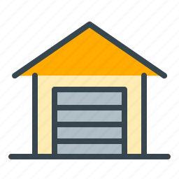 estate, garage, home, parking, real, vehicle icon