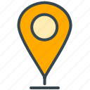 estate, location, marker, navigation, pointer, real icon