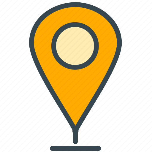 estate, location, marker, navigation, pointer, real icon