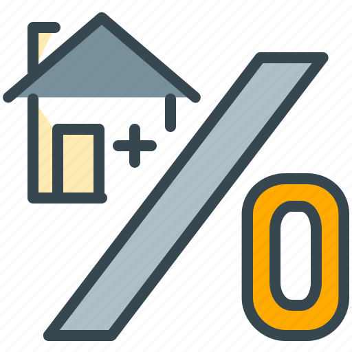 discount, estate, home, percent, percentage, real, sale icon