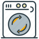 equipment, estate, home, laundry, machine, real, washing icon