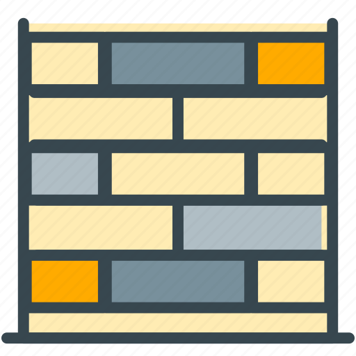 bricks, construction, estate, real, wall icon