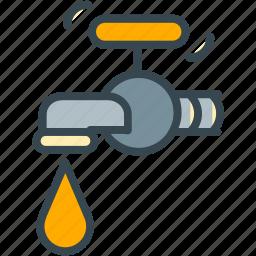 bathroom, drop, estate, real, tab, water icon