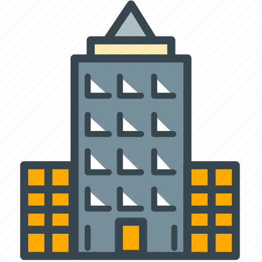apartment, building, estate, home, property, real icon