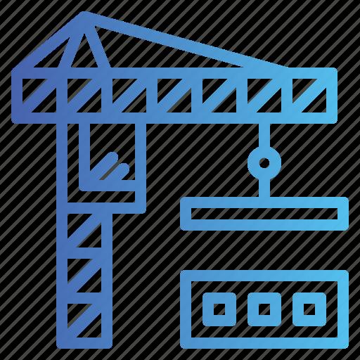 Building, construction, crane, estate, real icon - Download on Iconfinder