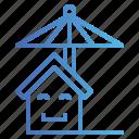 home, insurance, protect, umbrella icon
