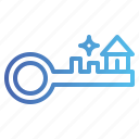 house, key, lock, security icon