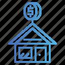 money, mortgage, property, rent icon