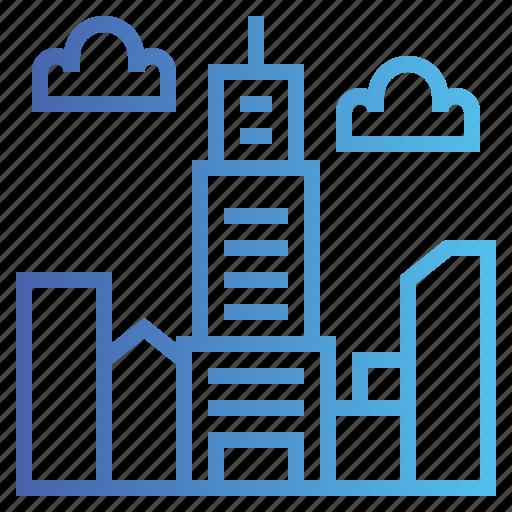 architecture, city, skycraper, town icon