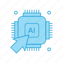 artificial, chip, intelligence, processor, technology icon