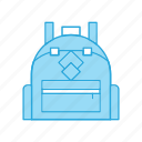 backpack, bag, school, travel icon