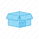 box, open, product icon