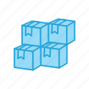 boxes, cubes, packages, products icon