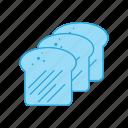 baking, bread, food, loaf, slices, toast