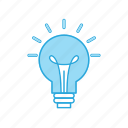 bulb, electric, idea, light icon