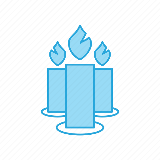 Candle, candles, decoration, fire, flame icon - Download on Iconfinder