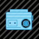 audio, cassette, player, radio