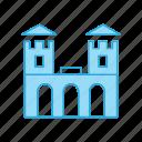 amusement, building, castle, fairground, scarousel, security, tower icon
