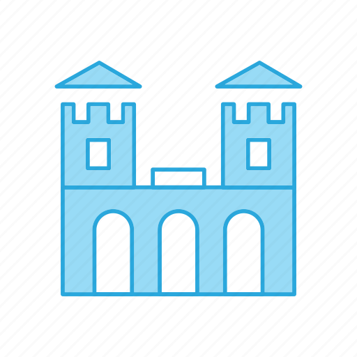 Amusement, building, castle, fairground, scarousel, security, tower icon - Download on Iconfinder