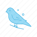 chestnut, finch, sparrow icon