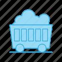 cart, coal, mine, wagon
