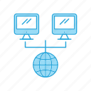connected, connection, network, systems icon