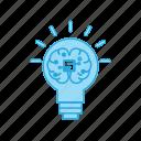 brain, creative, idea, lightbulb, mind, personal, power icon