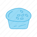 cake, cup, dessert, food, muffin icon