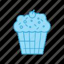 brownie, cake, cupcake, dessert, sweets