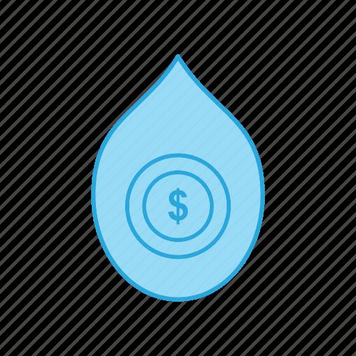Dollar, drop, finance, money, oil, petroleum icon - Download on Iconfinder