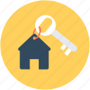 access, house key, key, keychain, room key icon