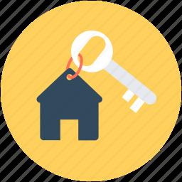 access, house key, key, keychain, room key icon
