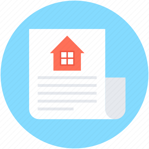 estate agreement, house contract, property contract, property document, property papers icon