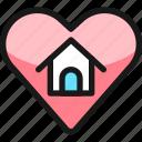real, estate, favorite, heart, house