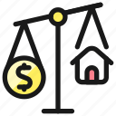real, estate, market, scale