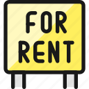 real, estate, sign, for, rent