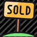 real, estate, sign, sold