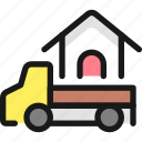 real, estate, truck, house