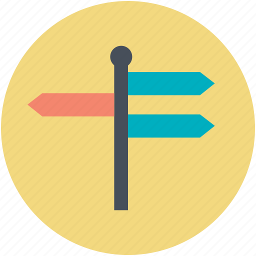guidepost, signpost, street arrows, street signs, travel icon