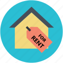 house for rent, real estate, relocation, rent sign, rental concept icon