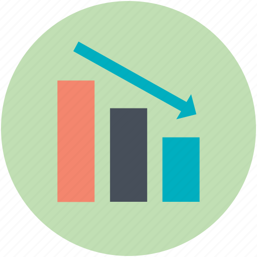 business chart, data chart, finance, graph report, loss chart icon