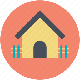 building, courtyard, home, hut, rural house icon