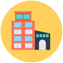 building, commercial building, modern building, office, real estate icon