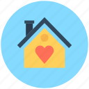 cottage, home, home with heart, hut, loving home