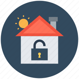 home, home unlock, lock sign, mortgage, real estate icon