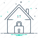home, home security, safe, safe home, secure, security icon