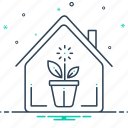 gardening, indoor, indoor plants, nature, plants, potted icon