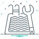 clean, cleaner, maintenance, pool, pool maintenance icon