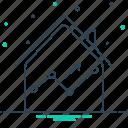 estate, graphic, marketing, real, real estate statistics, statistics icon